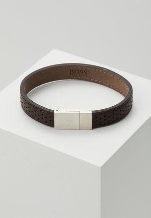 ESSENTIALS - Bracciale - brwon/silver-coloured