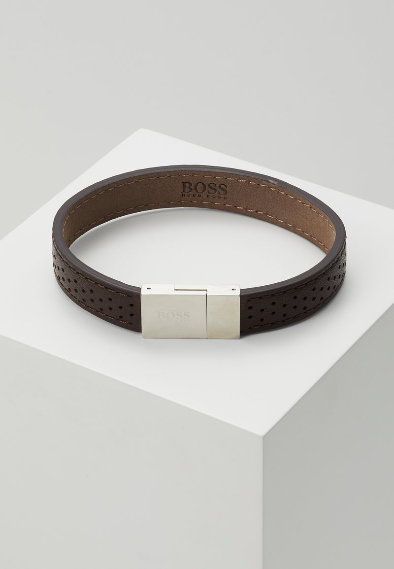 BOSS - ESSENTIALS - Bracelet - brwon/silver-coloured
