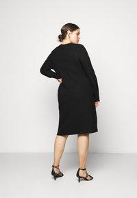Persona by Marina Rinaldi - GARDENIA - Gebreide jurk - black - 2