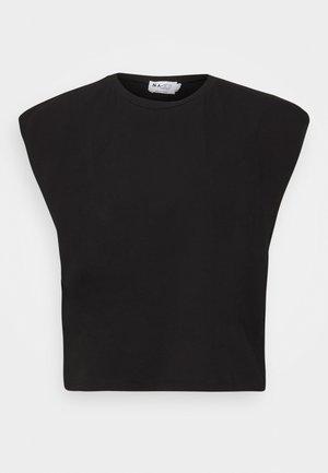 SLEEVE DETAIL - Basic T-shirt - black
