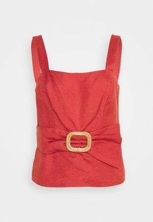 BYRON BELTED PEPLUM BUSTIER - Blouse - orange rust
