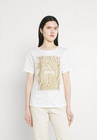 b.young - BXSILLI - Print T-shirt - birch mix - 0