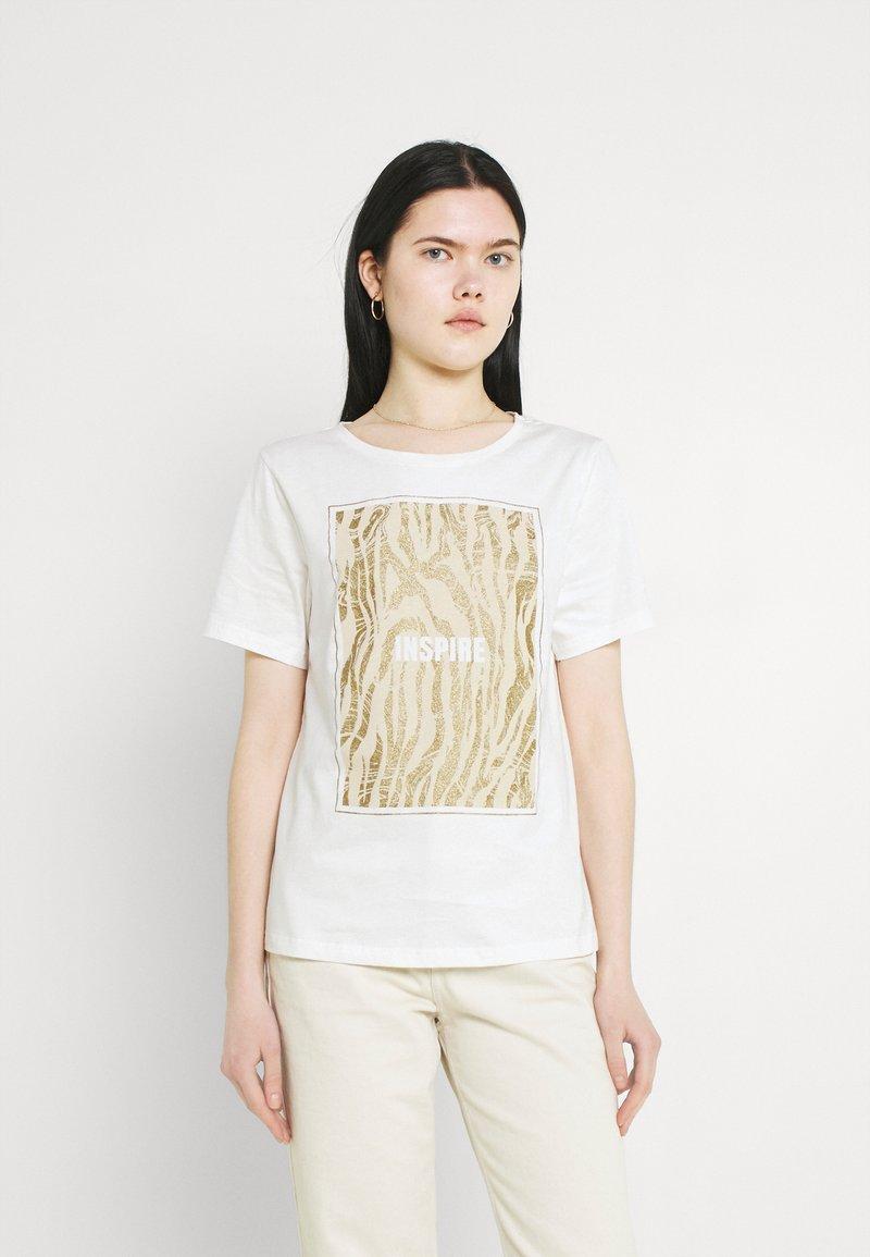 b.young - BXSILLI - Print T-shirt - birch mix