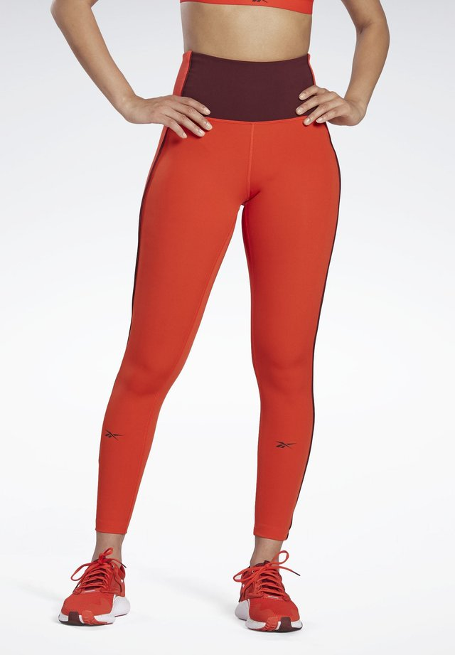 STUDIO LUX PERFORM LEGGINGS - Collants - red