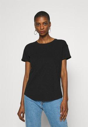 WHISPER CREWNECK TEE - Basic T-shirt - true black