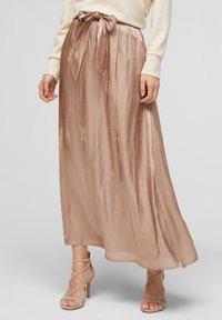 s.Oliver BLACK LABEL - A-line skirt - beige - 0