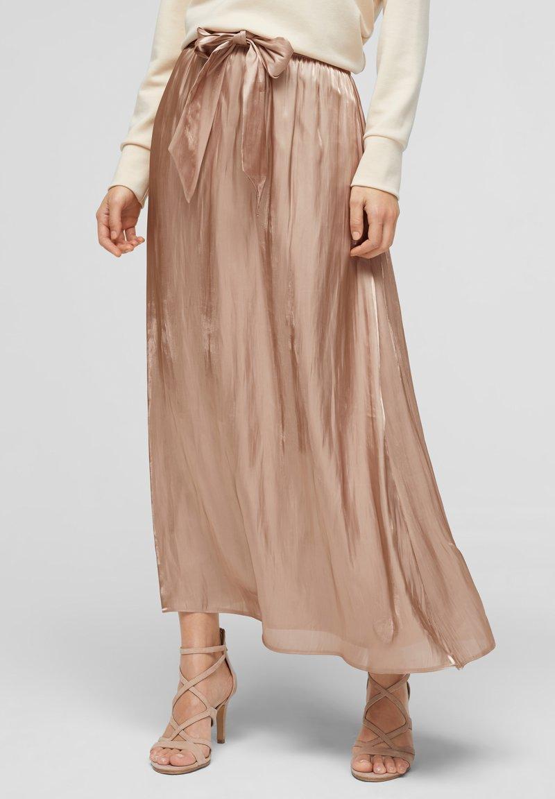 s.Oliver BLACK LABEL - A-line skirt - beige
