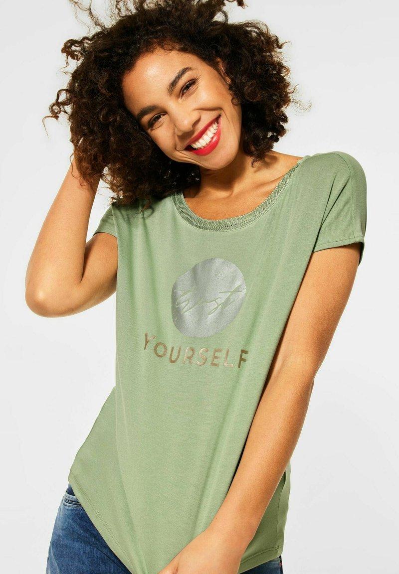 Street One - Print T-shirt - grün