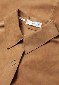 Mango - Button-down blouse - light brown - 7