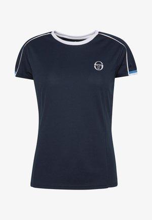 PLIAGE - T-shirt z nadrukiem - navy/white