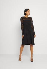 Vila - VIURIS LACE DRESS - Day dress - black - 0