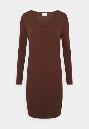 VIFELIA DRESS - Žerzejové šaty - chocolate fondant