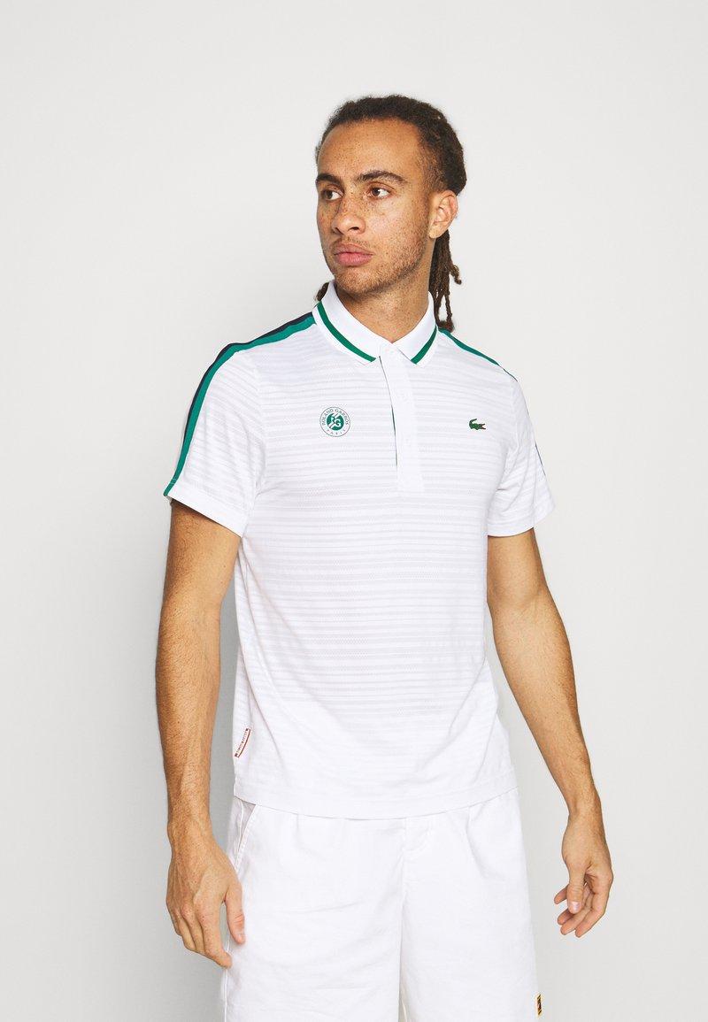 Lacoste Sport - TENNIS  - Poloshirt - white/bottle green/navy blue