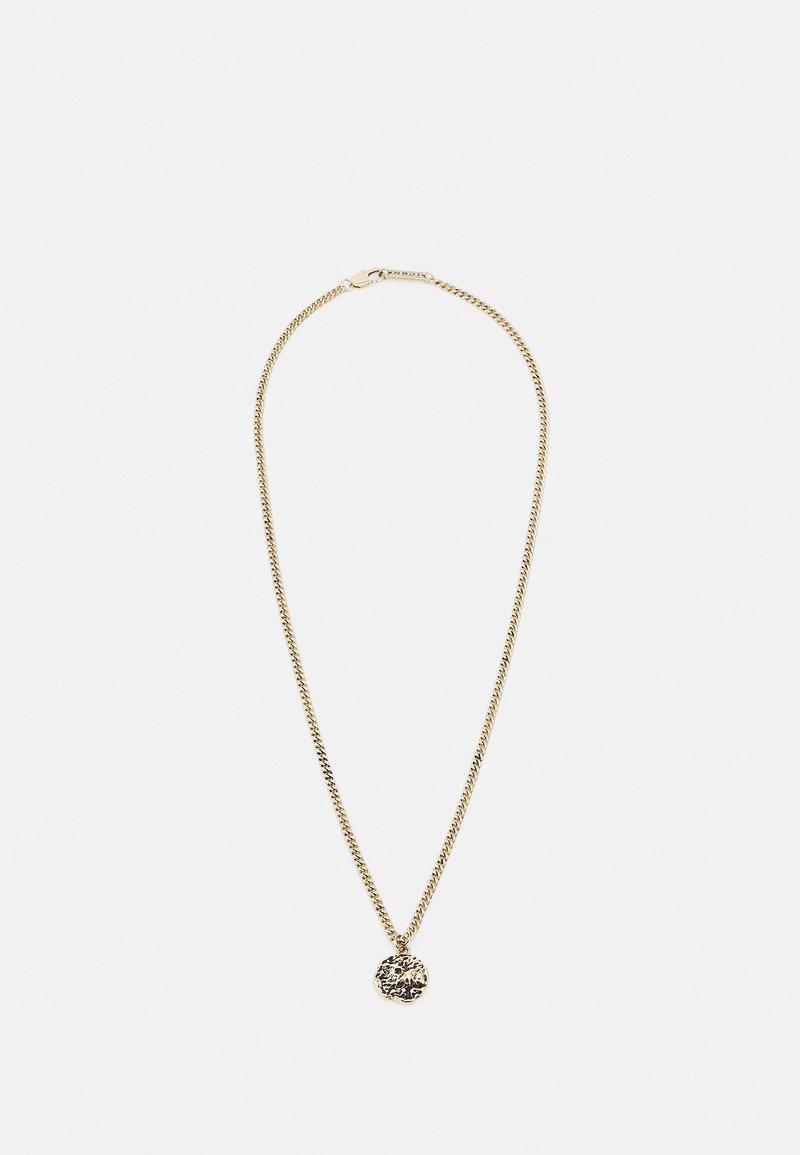Icon Brand - MOLTEN ROUND PENDANT NECKLACE - Ketting - gold-coloured