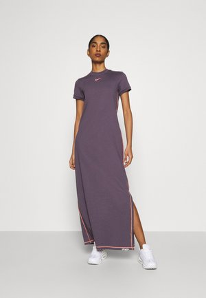 DRESS - Maxi dress - dark raisin/bright mango