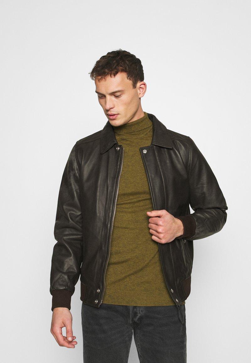 Schott - Leather jacket - dark brown