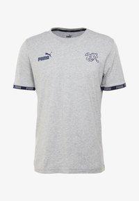 Puma - SCHWEIZ SFV CULTURE TEE - Club wear - light gray heather - 5