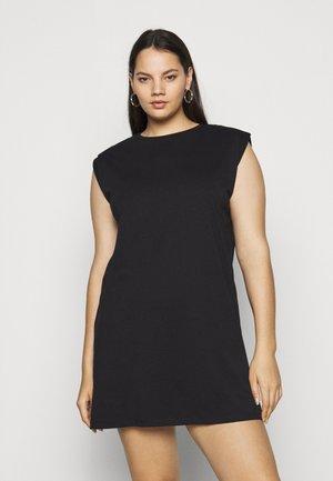 PCLIZ DRESS - Jersey dress - black