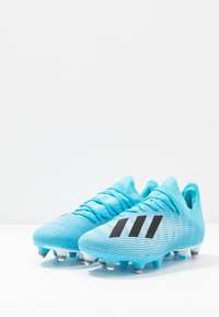 adidas Performance - X 19.3 SG - Screw-in stud football boots - bright cyan/core black/shock pink - 2