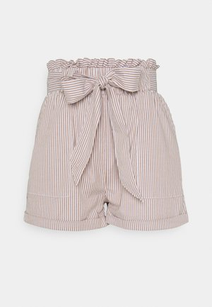 ONLSMILLA STRIPE BELT - Shorts - toasted coconut/white