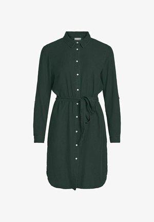 VIBISTA BELT DRESS - Denim dress - darkest spruce