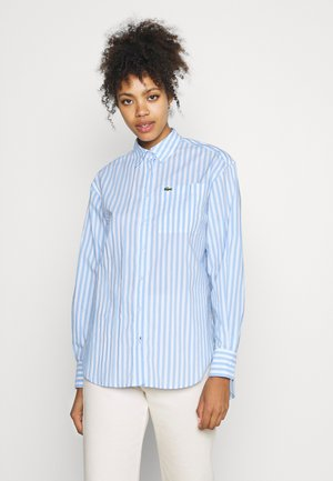 Button-down blouse - nattier blue/white