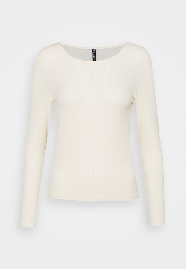 PCLIVA LOUNGE - Long sleeved top - buttercream