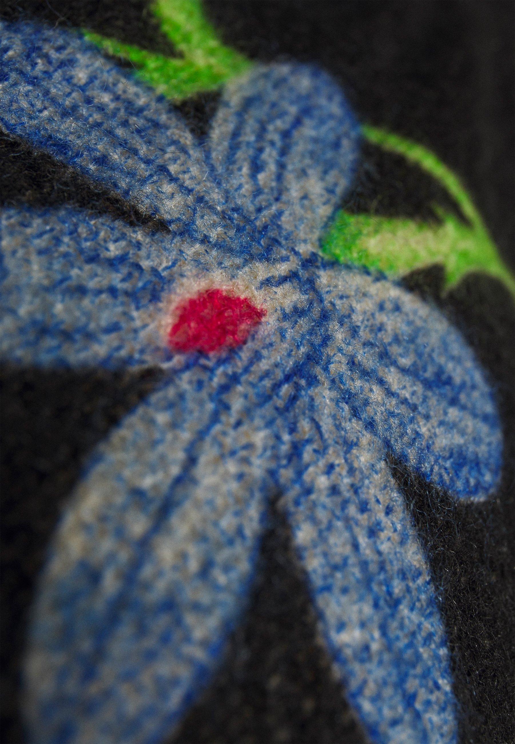 Fast Delivery Women's Clothing Desigual PONCHO FLOWERISH REVE Cape black OjHHSZ1JM