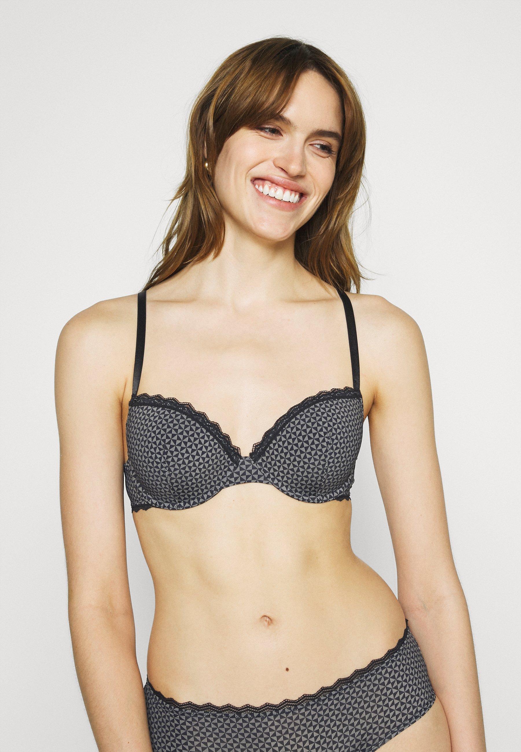 Women FEMININE MICRO PRINT CLASSIC PADDED BRA - Underwired bra