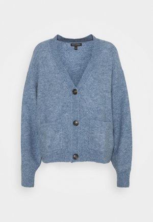 OVERSIZED PATCH POCKET CARDIGAN - Kardigan - light blue