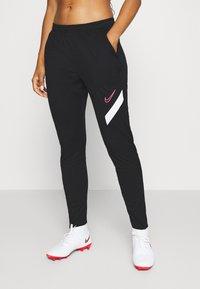 Nike Performance - DRY ACADEMY PANT - Joggebukse - black/white/hyper pink - 0