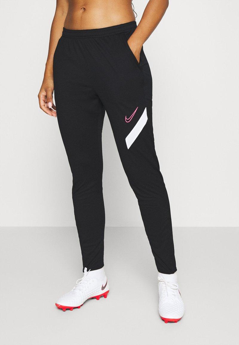 Nike Performance - DRY ACADEMY PANT - Joggebukse - black/white/hyper pink