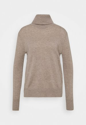 WOOL & CASHMERE - Jumper - beige/grey