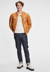 Gipsy - DERRY - Leather jacket - yellow - 1