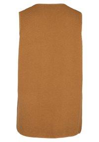 Zizzi - MIT TASCHEN - Waistcoat - brown - 6