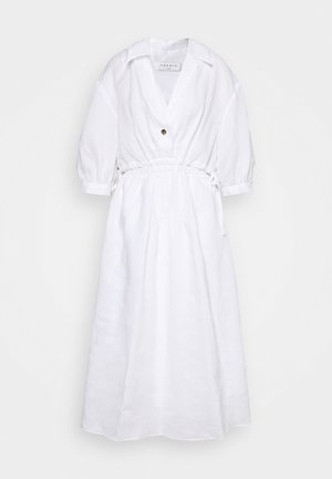 Košilové šaty - ecru