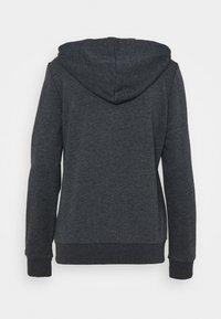 adidas Performance - Bluza rozpinana - dark grey heather/rose tone - 8