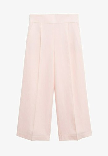 Trousers - pastel pink