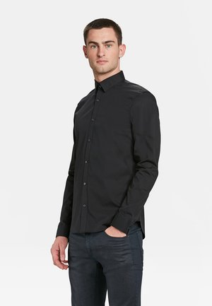 SLIM FIT STRETCH - Hemd - black