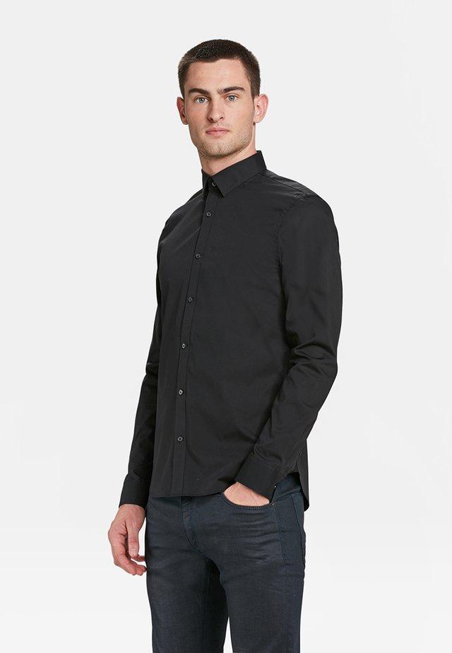 SLIM FIT STRETCH - Camicia - black
