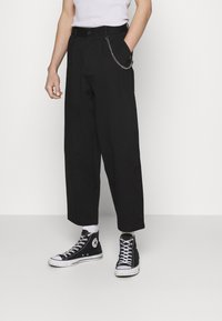 Vintage Supply - TROUSER WITH CHAIN - Trousers - black - 0