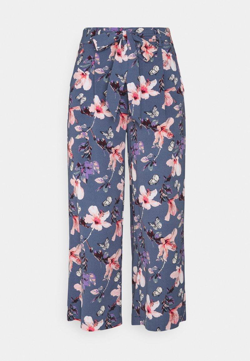 ONLY - ONLNOVA LUX CROP PALAZZO PANT - Bukse - vintage indigo