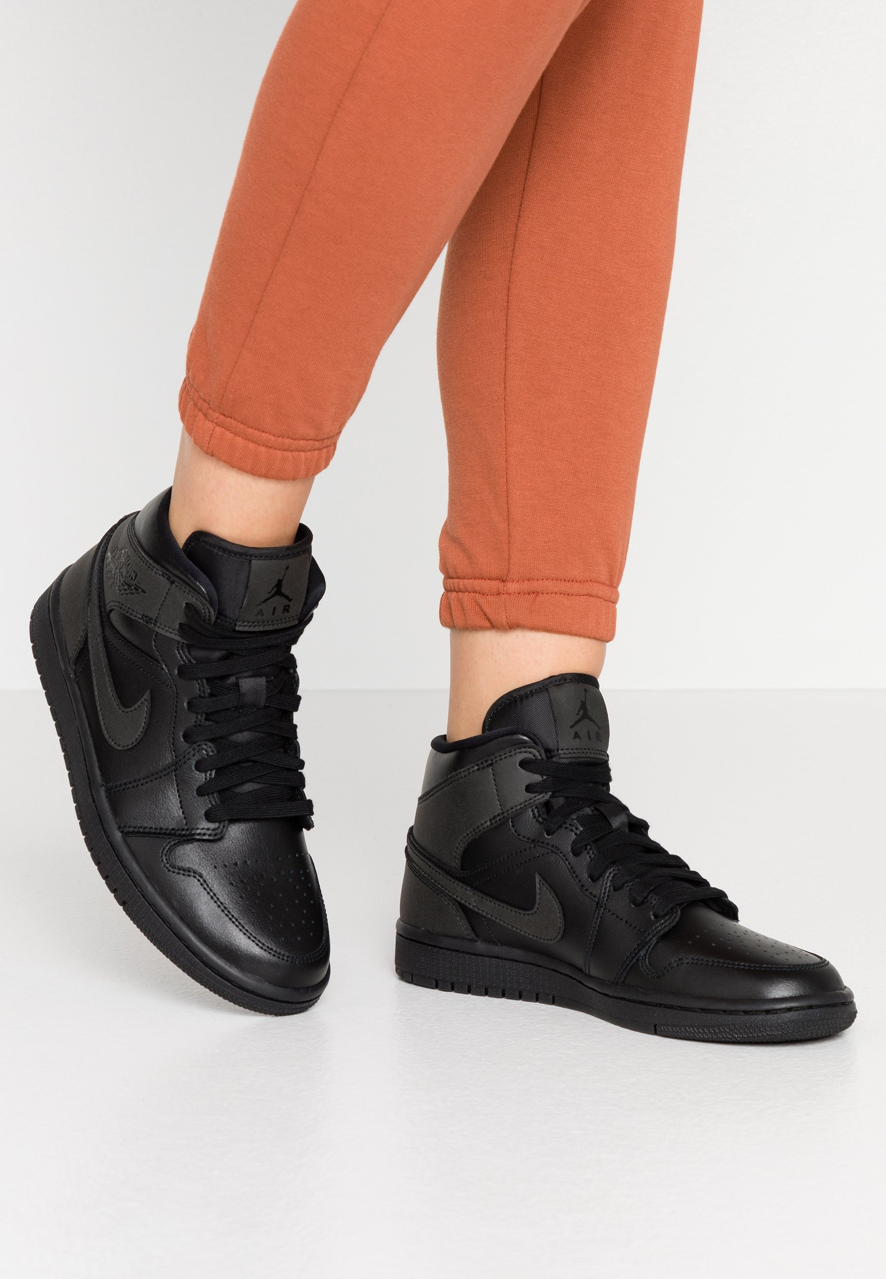 Jordan WOMENS AIR 1 MID - Baskets montantes - black/noir - ZALANDO.FR