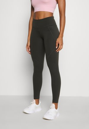 POWER WORKOUT LEGGINGS - Tights - dark forest green