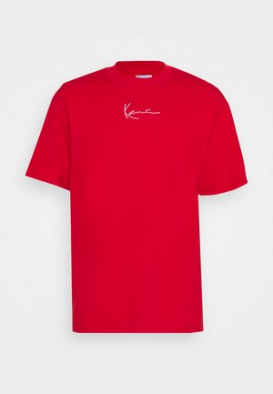 SMALL SIGNATURE TEE UNISEX  - Jednoduché triko - red
