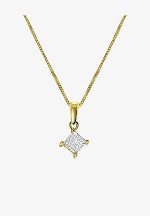 14 CT GOLD, DIAMOND 0,04CT - Ketting - zilverkleurig/goud