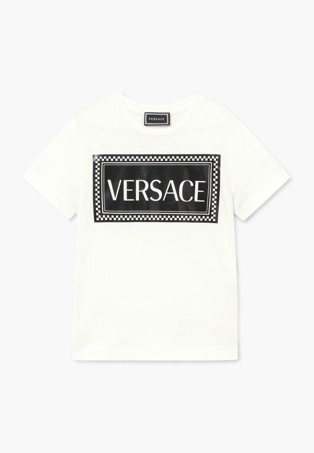 MAGLIETTA MANICA CORTA - T-shirt print - bianco/nero
