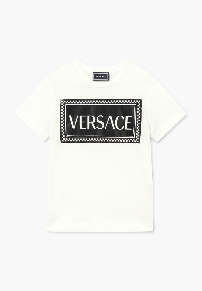 Versace - MAGLIETTA MANICA CORTA - Triko spotiskem - bianco/nero