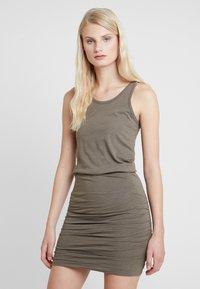 AllSaints - TOBY DRESS - Etuikleid - khaki green - 0