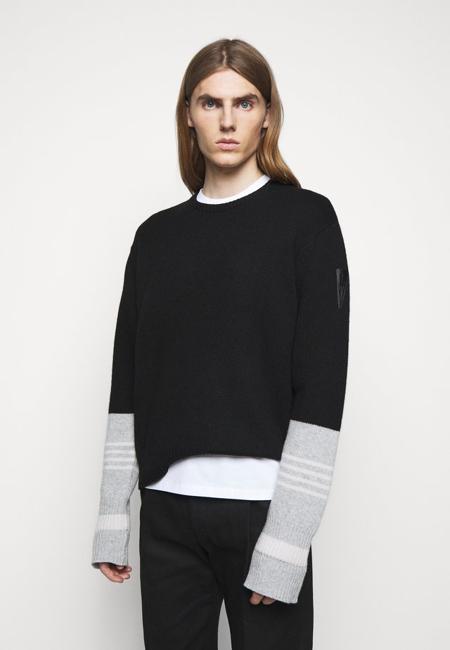 TRAVEL STRIPED CUFF SHETL - Pullover - black/grey